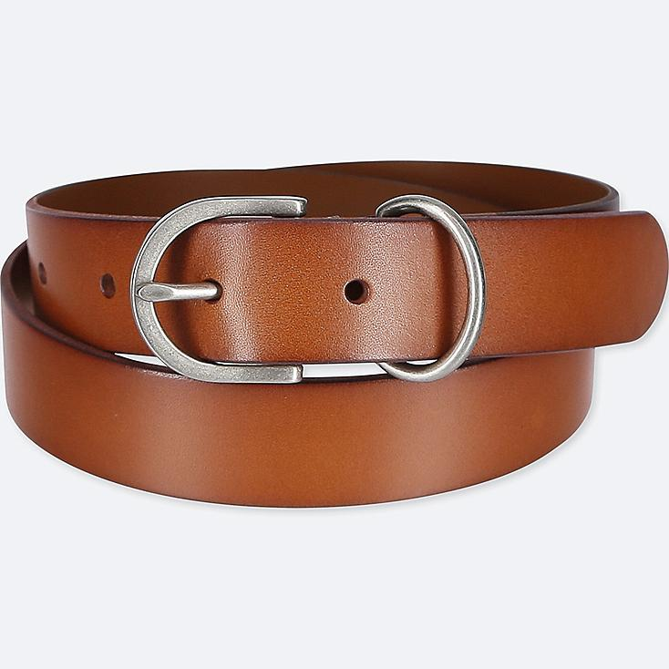 WOMEN VINTAGE BELT, BROWN, large