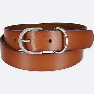 WOMEN VINTAGE BELT, BROWN, medium