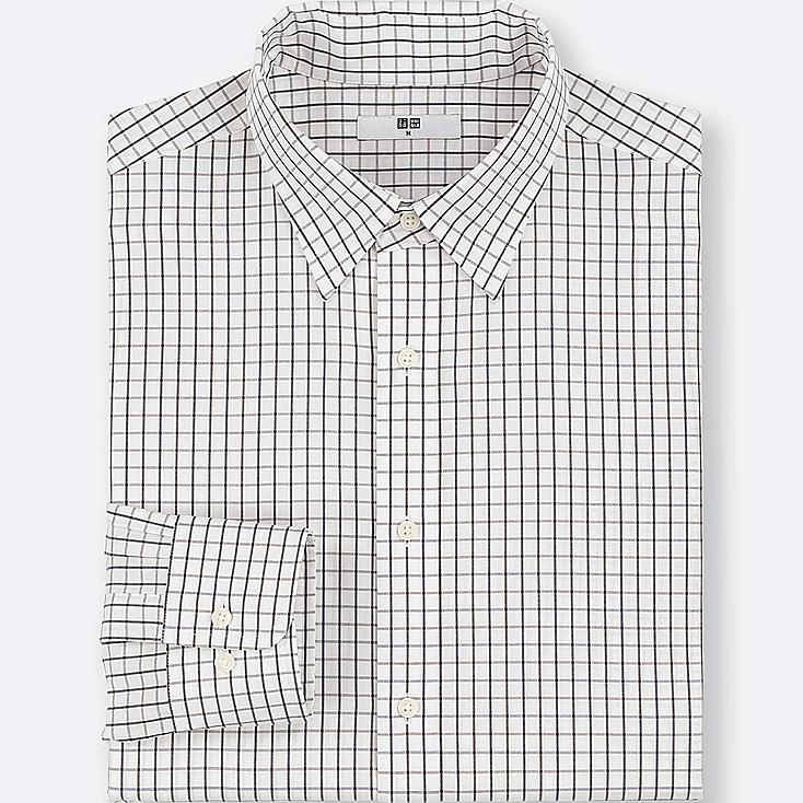 MEN EASY CARE CHECKED REGULAR-FIT LONG-SLEEVE SHIRT (ONLINE EXCLUSIVE) at UNIQLO in Brooklyn, NY | Tuggl