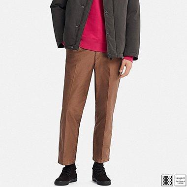 MEN U REGULAR-FIT ANKLE-LENGTH PANTS, BROWN, medium