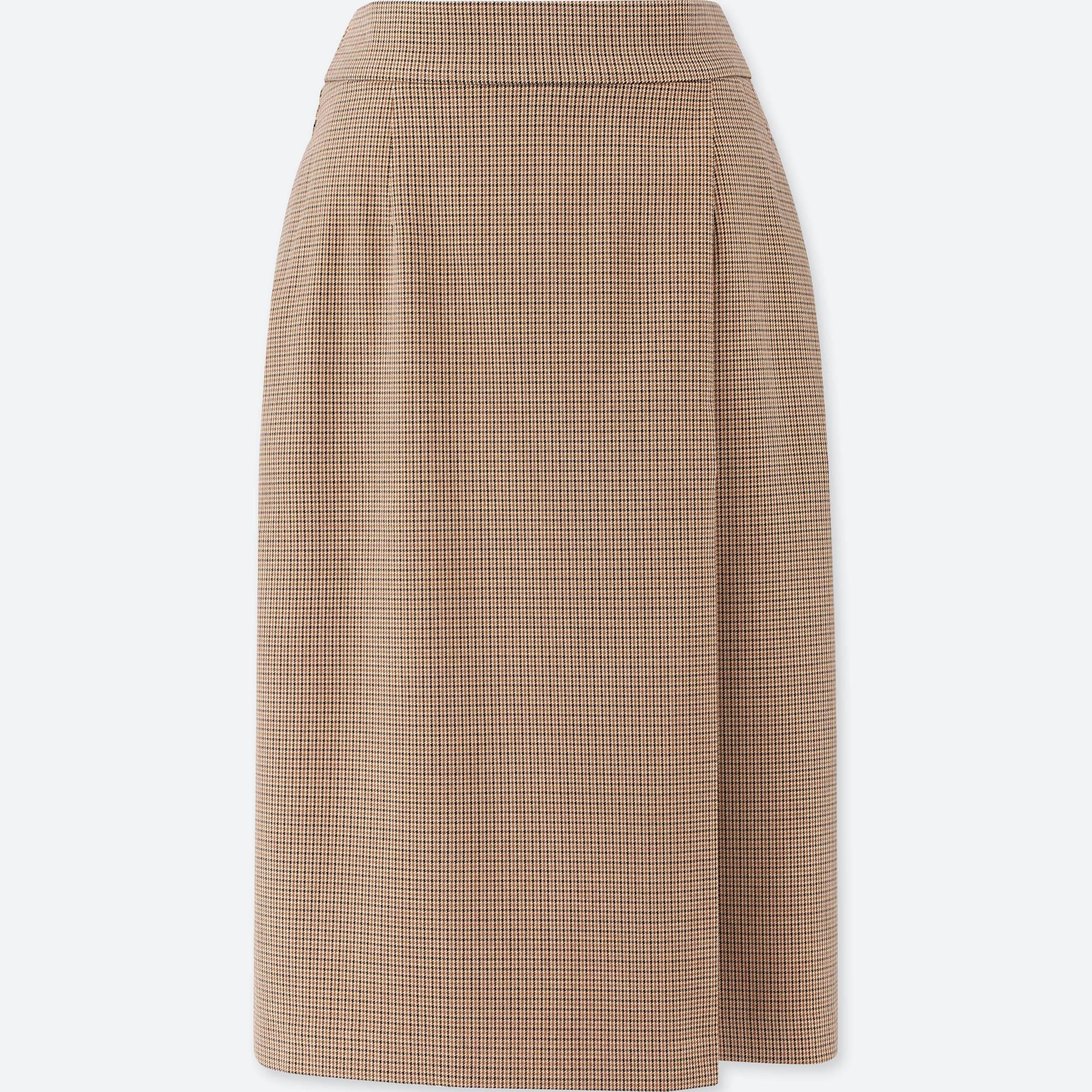 ユニクロ/ スカート women checked narrow skirt