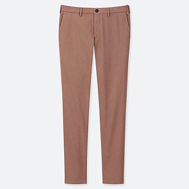 MEN SLIM-FIT CHINO FLAT-FRONT PANTS, BROWN, medium