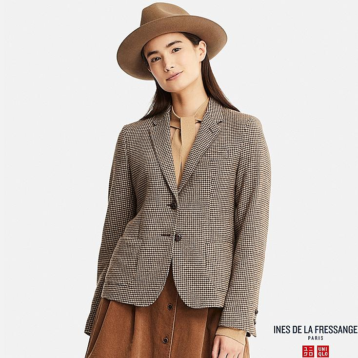 WOMEN INES SOFT TWEED BLAZER JACKET