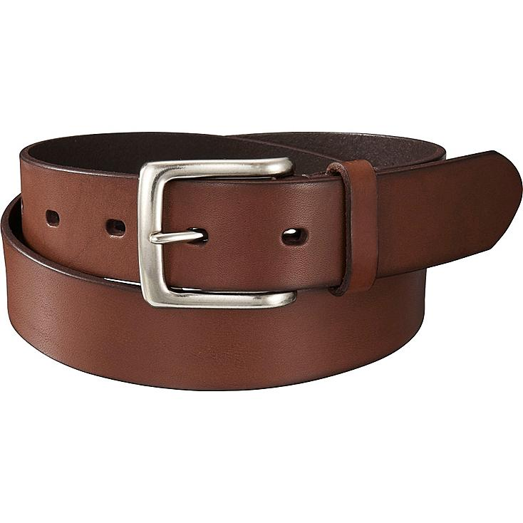 Men Italian Vachetta Leather Belt, BROWN, large
