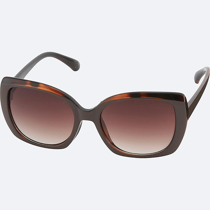 SQUARE SUNGLASSES, BROWN, large