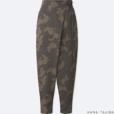WOMEN HANA TAJIMA PRINTED WRAP ANKLE LENGTH TROUSERS