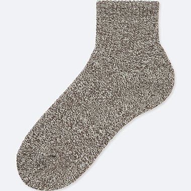 MEN HEATTECH PILE HALF SOCKS