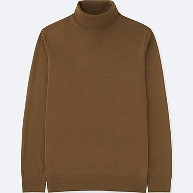 MEN EXTRA FINE MERINO TURTLE NECK LONG SLEEVE SWEATER