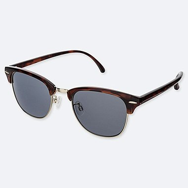 BROW LINE SUNGLASSES, BROWN, medium