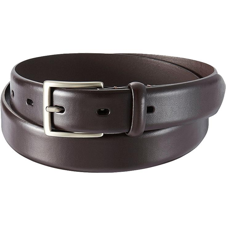MEN NO STITCHED BELT, DARK BROWN, large