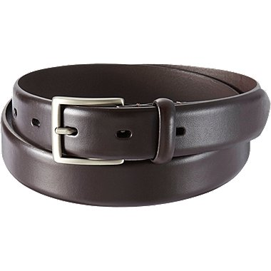 MEN NO STITCHED BELT, DARK BROWN, medium