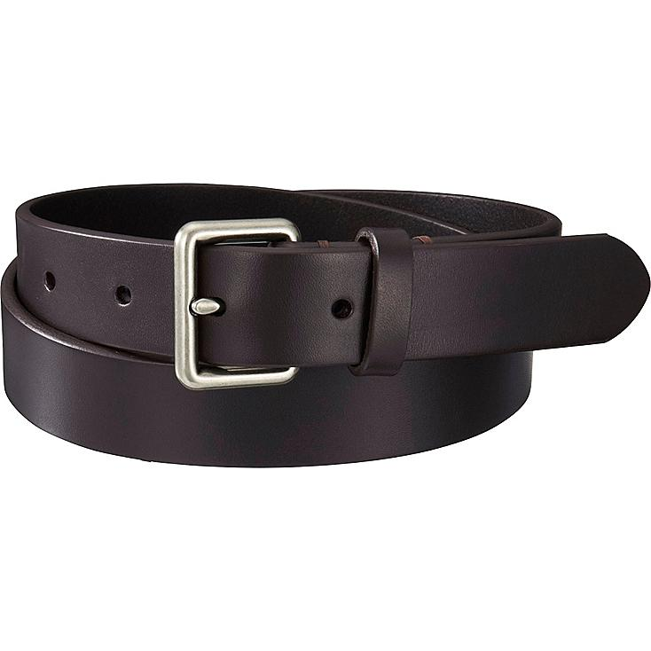 Men's Italian Bridle Leather Belt, DARK BROWN, large