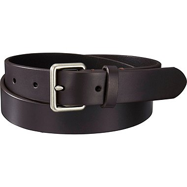 Men Italian Bridle Leather Belt, DARK BROWN, medium