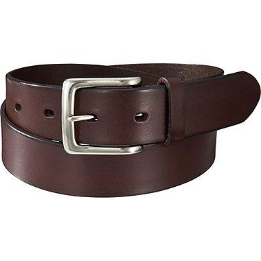 Mens Italian Vachetta Leather Belt, DARK BROWN, medium