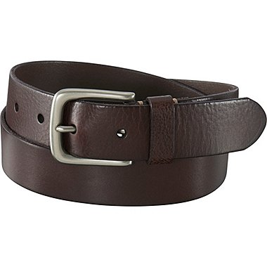 MEN ITALIAN LEATHER VINTAGE BELT, DARK BROWN, medium