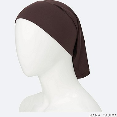 WOMEN AIRism HEADBAND, DARK BROWN, medium