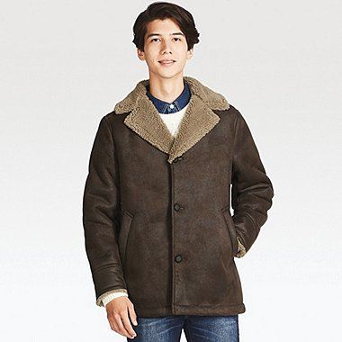 MEN FAUX SHEARLING COAT