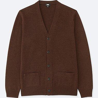 Cárdigan lana cuello pico manga larga HOMBRE