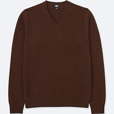 MEN LAMBSWOOL V NECK SWEATER