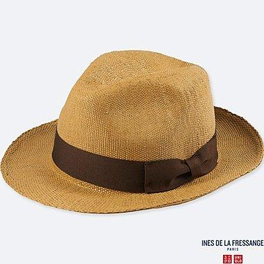 WOMEN IDLF PAPER FEDORA HAT, DARK BROWN, medium
