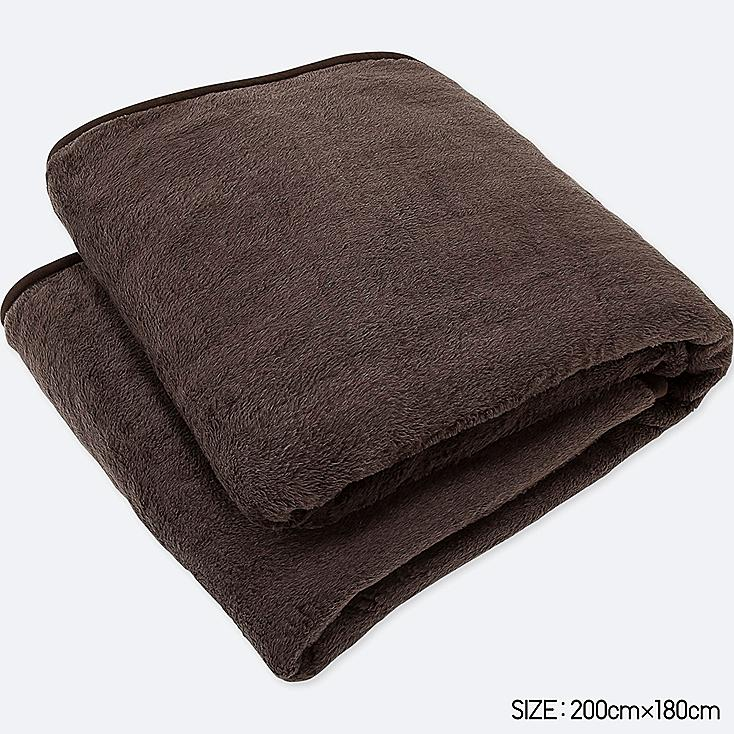 HEATTECH BLANKET (DOUBLE) (ONLINE EXCLUSIVE), DARK BROWN, large
