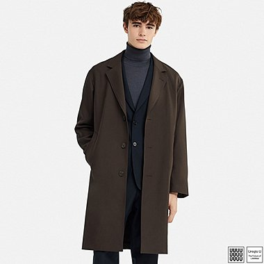 MEN UNIQLO U WOOL BLEND CHESTERFIELD COAT