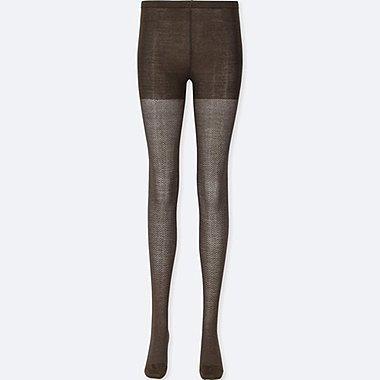 WOMEN HEATTECH KNITTED TIGHTS (1 PACK/HERRINGBONE)