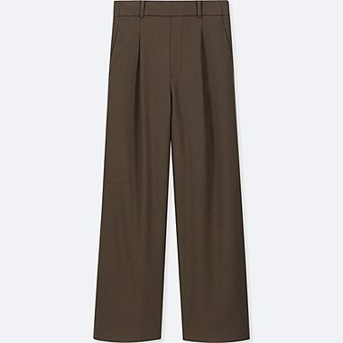 WOMEN High Waisted Tucked Wide Leg Trousers