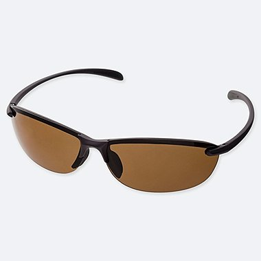 MEN LIGHTWEIGHT HALF RIM WRAP SPORTS SUNGLASSES
