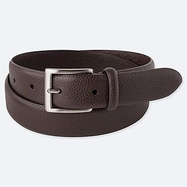 MEN ITALIAN LEATHER EMBOSSED BELT