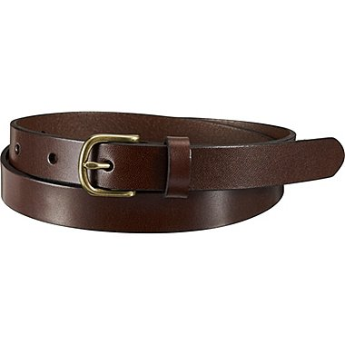 WOMEN MEDIUM GLOSS BELT, DARK BROWN, medium