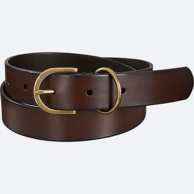 WOMEN VINTAGE BELT, DARK BROWN, medium
