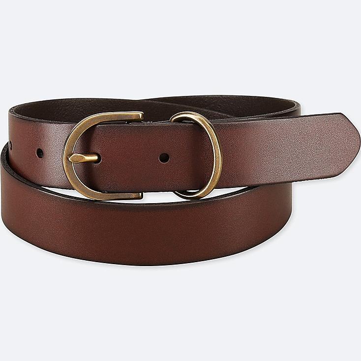WOMEN VINTAGE BELT, DARK BROWN, large