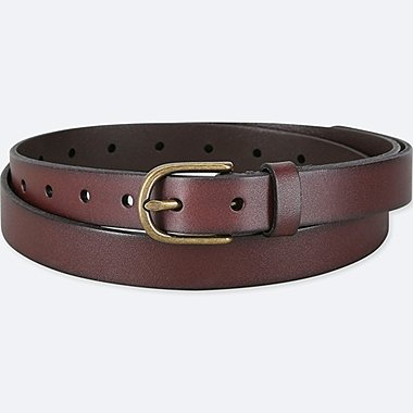 WOMEN LEATHER VINTAGE SKINNY BELT