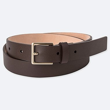 WOMEN CLEAN BELT, DARK BROWN, medium