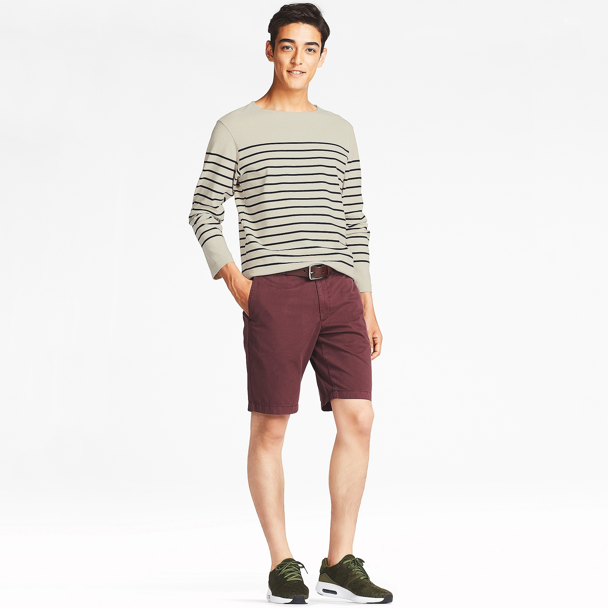 daae3d4f82 Uniqlo MEN WASHED STRIPED BOAT NECK LONG SLEEVE T-SHIRT at £14.9 ...