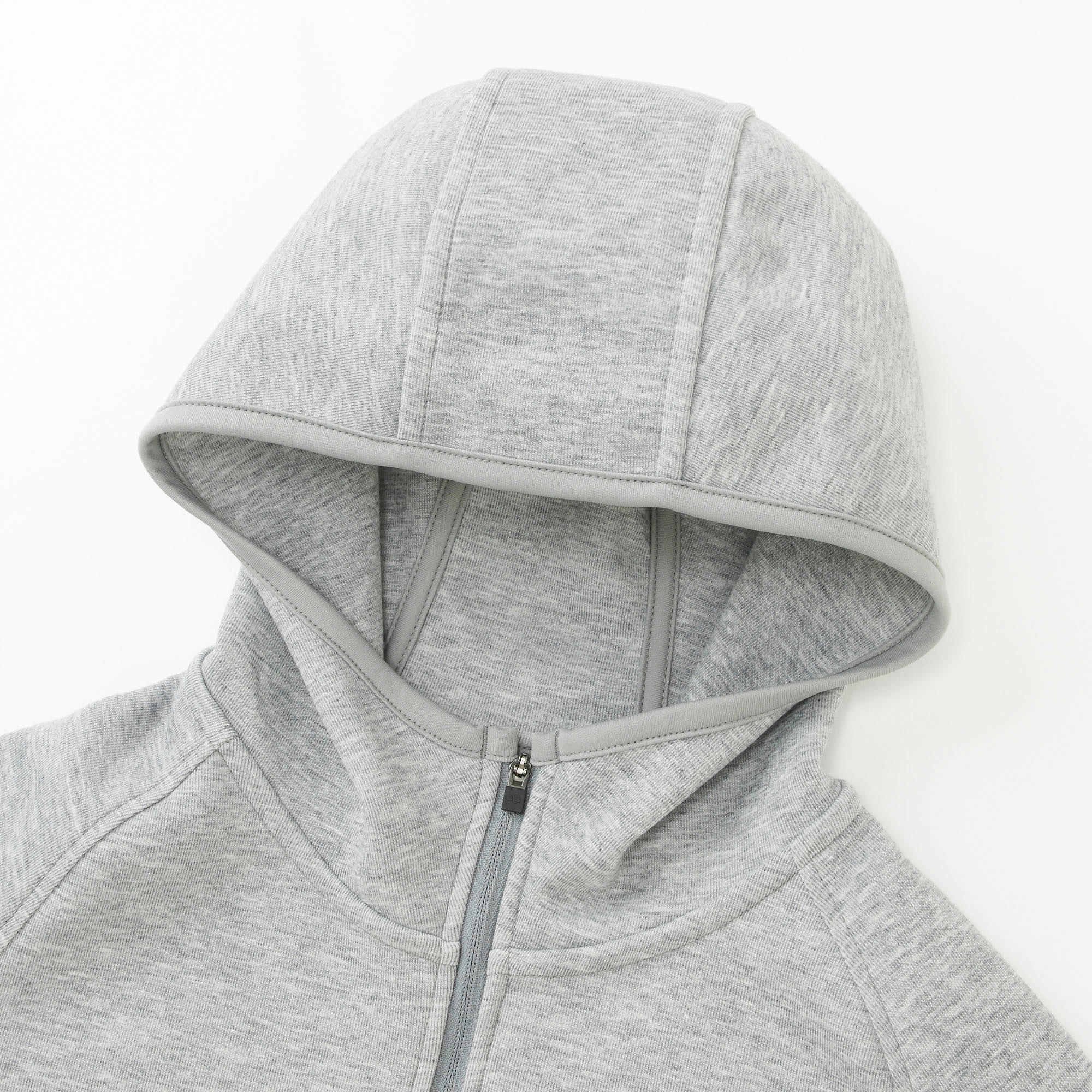 Contoured hood frames the face. Great for sports or casual wear.