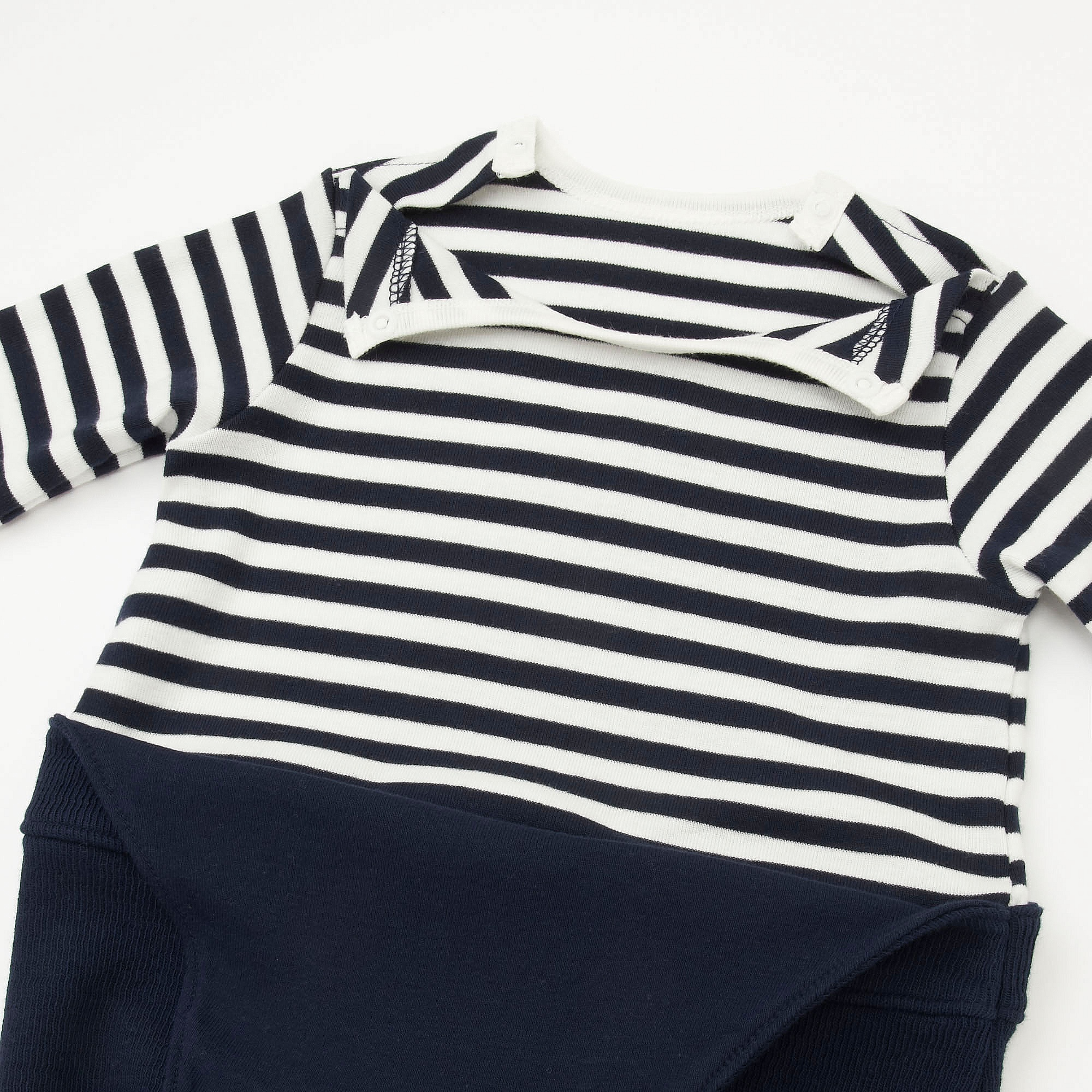1c49ee9e9 Uniqlo BABIES NEWBORN COORDINATE LONG SLEEVE ONE PIECE OUTFIT at ...