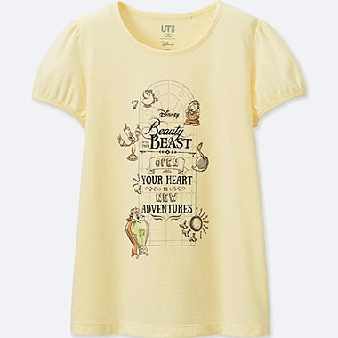 GIRLS Disney Beauty and the Beast GRAPHIC T-SHIRT, CREAM, medium