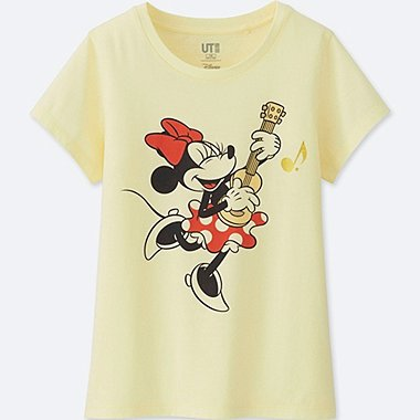 GIRLS SOUNDS OF DISNEY GRAPHIC T-SHIRT, CREAM, medium