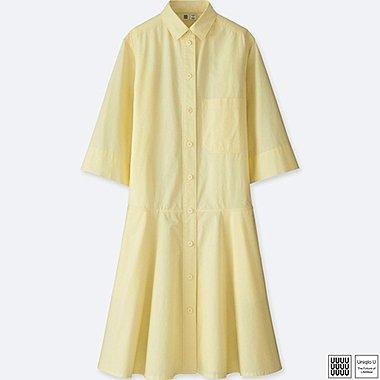 Damen U 100% Baumwolle Blusenkleid (3/4 Arm)