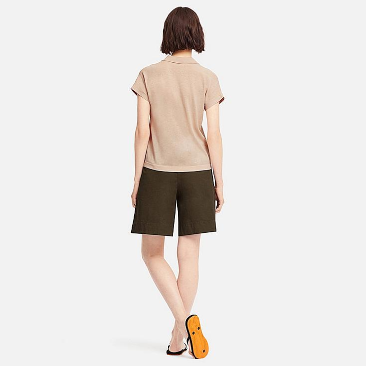 Women Short Sleeve Polo Sweater by Uniqlo