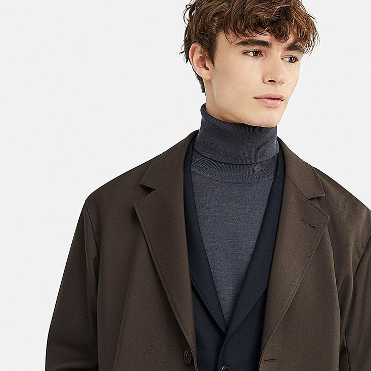 Men Uniqlo U Wool Blend Chesterfield Coat by Uniqlo