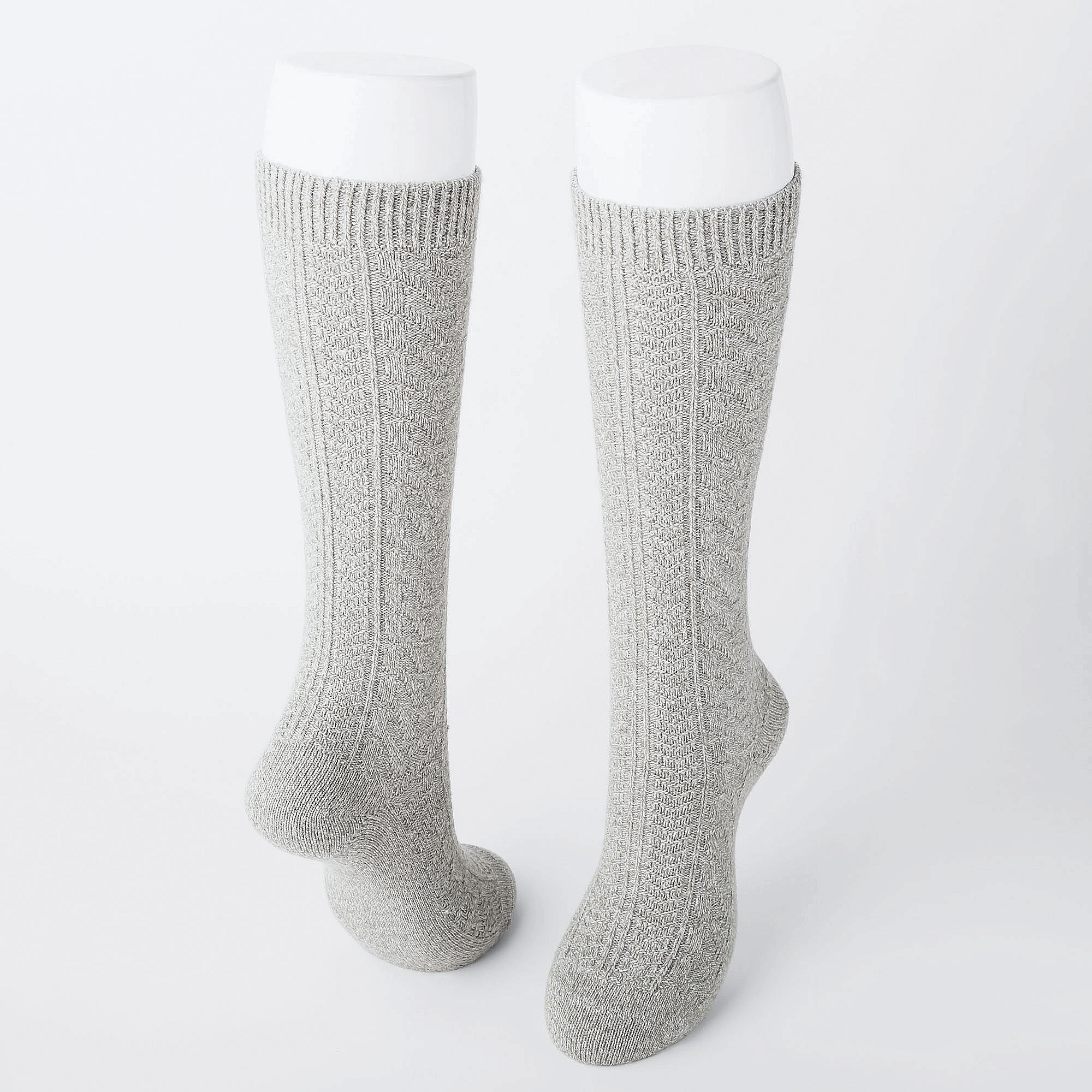 826e68b056f Uniqlo WOMEN HEATTECH KNEE HIGH SOCKS (2 PAIRS CABLE) at £9.9
