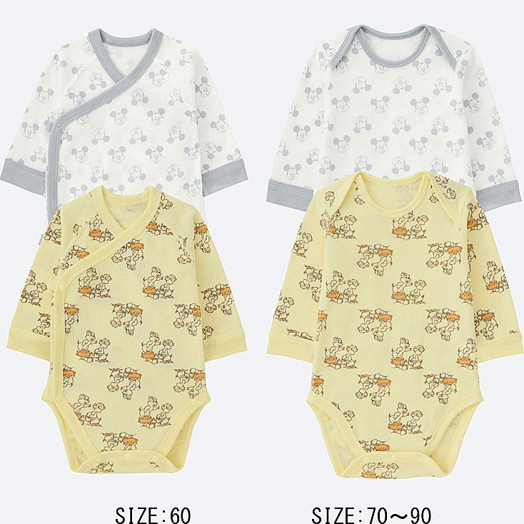 BABY DISNEY COLLECTION CREWNECK BODYSUIT 2-PACK, YELLOW, large