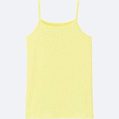 GIRLS AIRism CAMISOLE, YELLOW, medium
