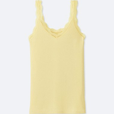 WOMEN 2 Way Ribbed Lace Tank Top