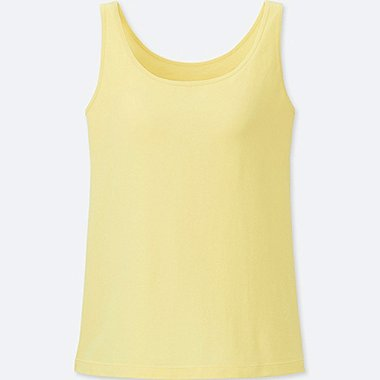 WOMEN SUPIMA® COTTON BRA SLEEVELESS TOP, YELLOW, medium