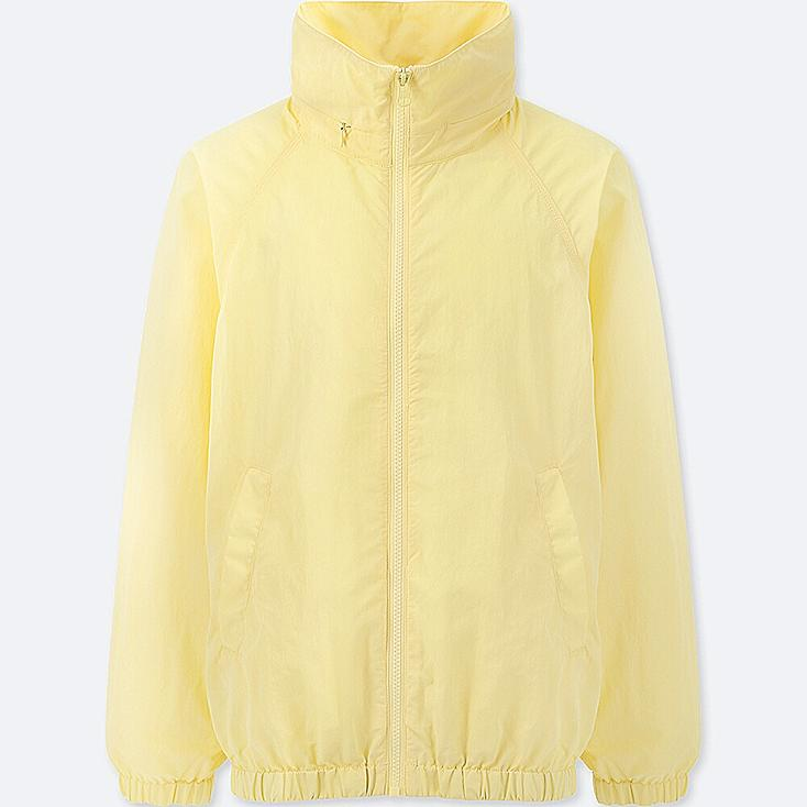 WOMEN STAND COLLAR BLOUSON, YELLOW, large