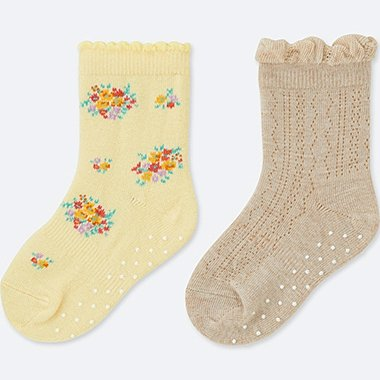 BABY socks, YELLOW, medium